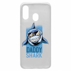 Чехол для Samsung A40 Daddy shark