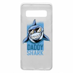 Чехол для Samsung S10 Daddy shark