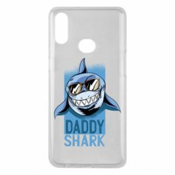 Чехол для Samsung A10s Daddy shark