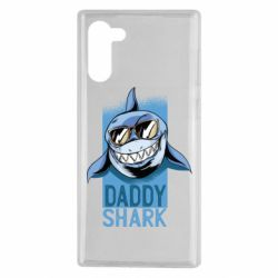 Чехол для Samsung Note 10 Daddy shark