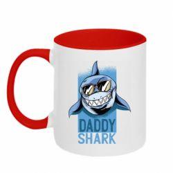 Кружка двоколірна 320ml Daddy shark