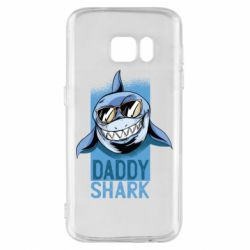 Чехол для Samsung S7 Daddy shark