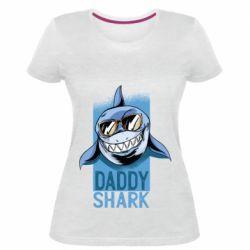 Жіноча стрейчева футболка Daddy shark