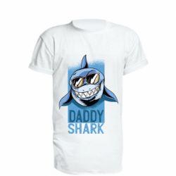 Подовжена футболка Daddy shark