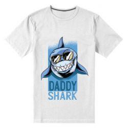 Чоловіча стрейчева футболка Daddy shark