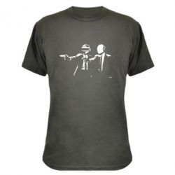 Камуфляжная футболка Daft Punk group