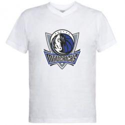 Мужская футболка  с V-образным вырезом Dallas Mavericks - FatLine