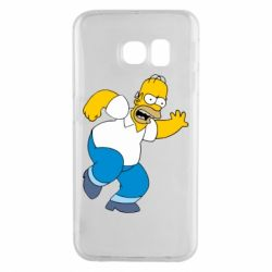 Чехол для Samsung S6 EDGE Dance, Homer! - FatLine