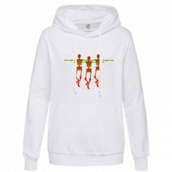 Женская толстовка Dancing skeletons