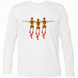 Футболка с длинным рукавом Dancing skeletons
