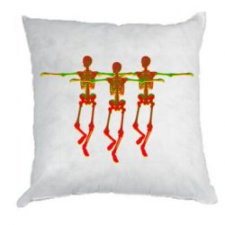 Подушка Dancing skeletons