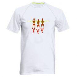 Мужская спортивная футболка Dancing skeletons