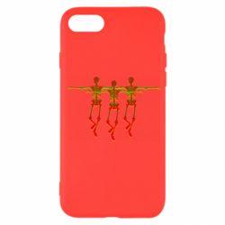 Чехол для iPhone 7 Dancing skeletons