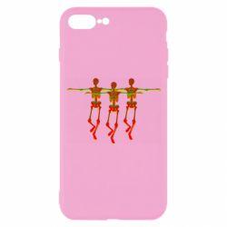 Чехол для iPhone 7 Plus Dancing skeletons