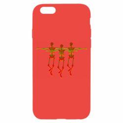 Чехол для iPhone 6/6S Dancing skeletons