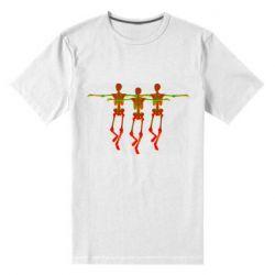 Мужская стрейчевая футболка Dancing skeletons