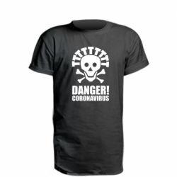 Подовжена футболка Danger coronavirus!