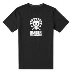 Чоловіча стрейчева футболка Danger coronavirus!