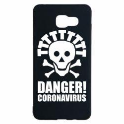 Чохол для Samsung A5 2016 Danger coronavirus!