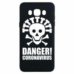 Чохол для Samsung J7 2016 Danger coronavirus!