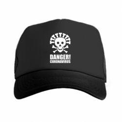 Кепка-тракер Danger coronavirus!
