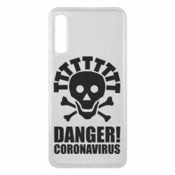 Чохол для Samsung A7 2018 Danger coronavirus!