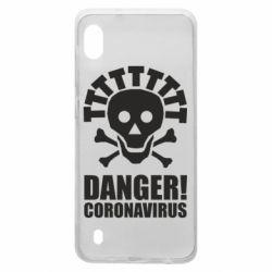 Чохол для Samsung A10 Danger coronavirus!