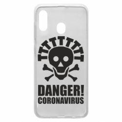 Чохол для Samsung A20 Danger coronavirus!