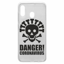 Чохол для Samsung A30 Danger coronavirus!