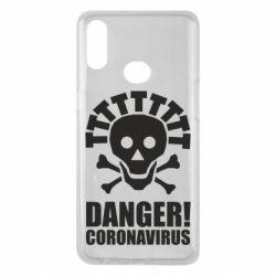 Чохол для Samsung A10s Danger coronavirus!