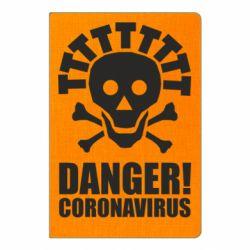 Блокнот А5 Danger coronavirus!