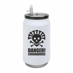 Термобанка 350ml Danger coronavirus!