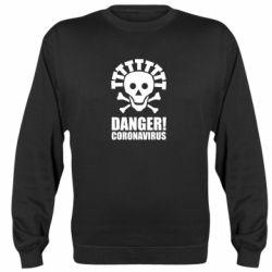 Реглан (світшот) Danger coronavirus!