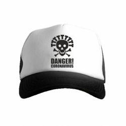Дитяча кепка-тракер Danger coronavirus!