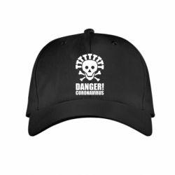 Дитяча кепка Danger coronavirus!