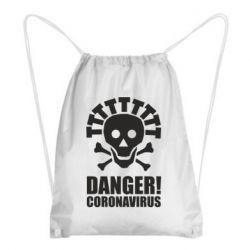Рюкзак-мішок Danger coronavirus!