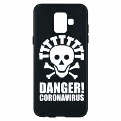 Чохол для Samsung A6 2018 Danger coronavirus!