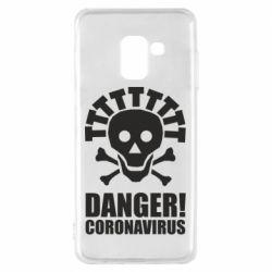 Чохол для Samsung A8 2018 Danger coronavirus!