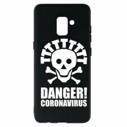 Чохол для Samsung A8+ 2018 Danger coronavirus!