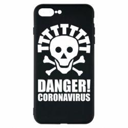 Чохол для iPhone 8 Plus Danger coronavirus!