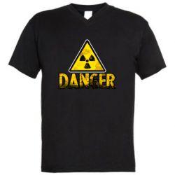 Чоловіча футболка з V-подібним вирізом Danger icon