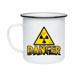 Кружка емальована Danger icon