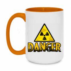 Кружка двоколірна 420ml Danger icon