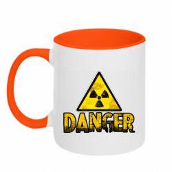 Кружка двоколірна 320ml Danger icon