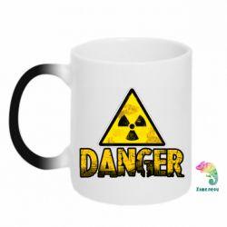 Кружка-хамелеон Danger icon