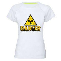 Жіноча спортивна футболка Danger icon