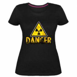 Жіноча стрейчева футболка Danger icon