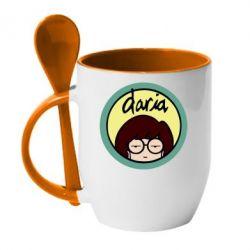 Кружка з керамічною ложкою Daria