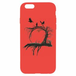 Чехол для iPhone 6/6S Dark autumn forest