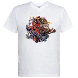 Купить Мужская футболка с V-образным вырезом Dark Souls, FatLine